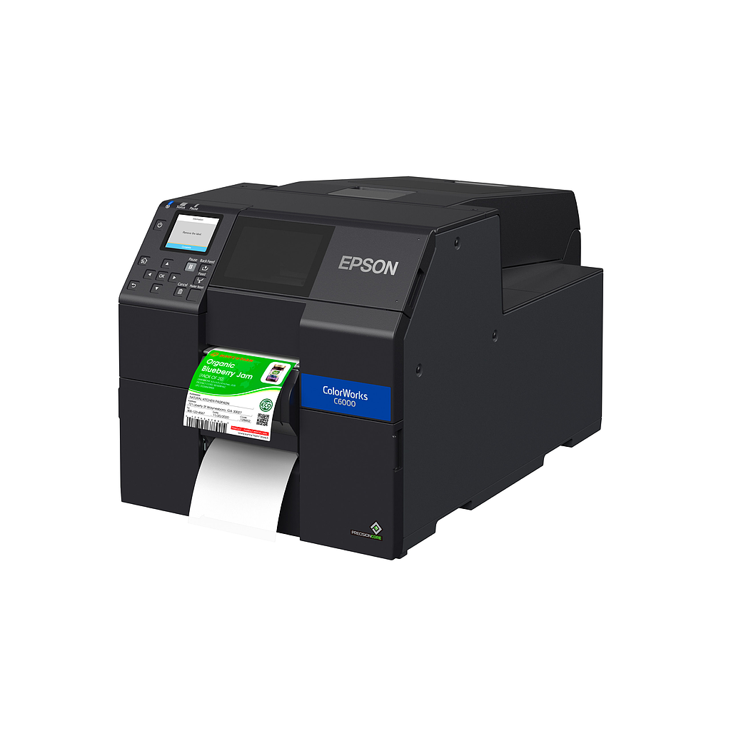"Epson ColorWorks C6000P {MATTE} (CW C6000P C31CH76A9961) 4"" COLOR LABEL PRINTER-PEELER"